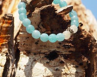 Aquamarine & Moonstone Bracelet