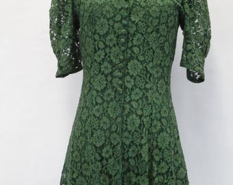 1930s raschel lace slip dress and jacket