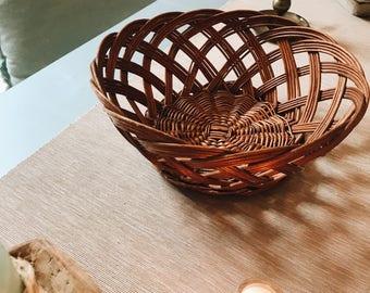 Rattan table cart/basket