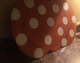 Polka Dot Pumpkin Door Hanger