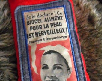 Vintage Biocel advertising glasses case