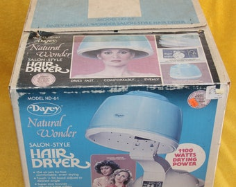 Vintage Dazey Natural Wonder Salon Style Hair Dryer 1980