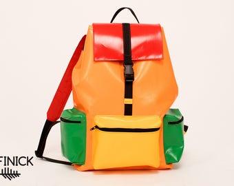 Backpack T1013, Handmade backpack, Travel backpack, Laptop backpack, Vegan backpack, Womens backpack, Mens backpack, Waterproof backpack