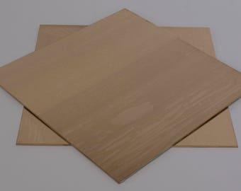"""Gilding Metal Sheet 6"""" square."""