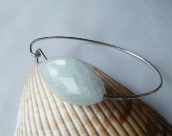 Bangle bracelet, aquamarine bangle,minimal bracelet,bangle