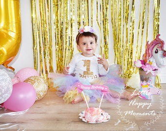 Unicorn 1st birthday outfit,  unicorn birthday outfit, first birthday outfit, smash the cake unicorn, rainbow unicorn outfit,