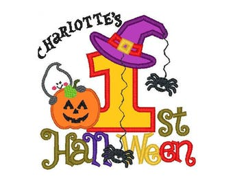 First Halloween Applique Design with additional font included