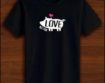 Love not Food! | Vegan Clothing, Vegetarian Clothing, Veggie, Proud Vegetarian, Proud Vegan, Vegan Top, Animal Rights, Animal Awarness