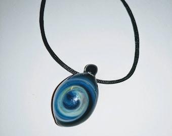 Frozen Storm of Jupiter (glass pendant)