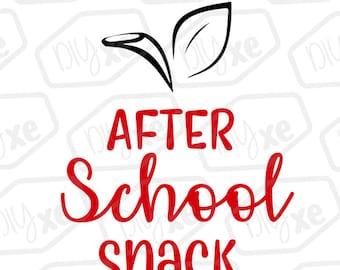 Teachers After School Snack Svg/Cut File