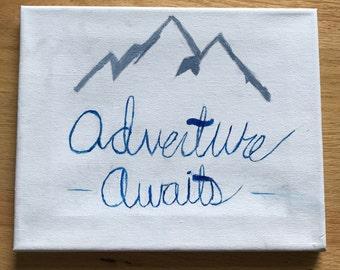 Adventure Awaits canvas