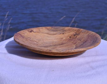 Hand turned, Wooden Plate, Reclaimed wood
