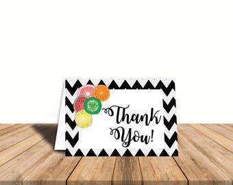 Twotti Fruitti Thank You Card, Blank Inside, Automatic Digital Download