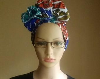 Ankara Headwrap, African Print Headwrap, Headwear, Head Scarf, Scarves, Head Accessories, Headtie