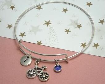 Bike bracelet Bike jewelry Bike charm bracelet Bicycle bracelet Bicycle charm bracelet Bicycle jewelry Gift for bike lover Cycling bracelet