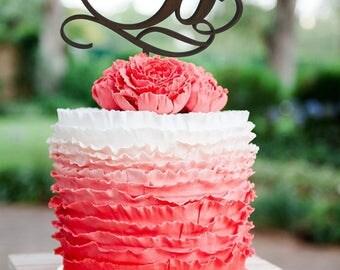 Letter b cake topper initials Wedding Cake Topper Cake topper b Cake Topper Monogram Wood Personalized Cake Topper Gold Monogram Letter L S