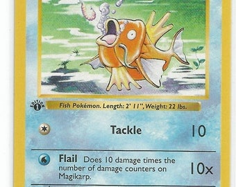 Pokemon base set Magikarp 1st edition Shadowless Pokemon card NM