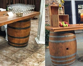 wine barrel table or whiskey barrel eastern usa only