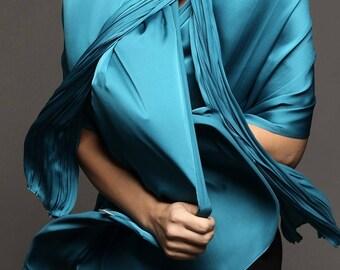 Blue Polysilk  scarf