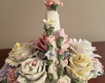 Bone China flower basket