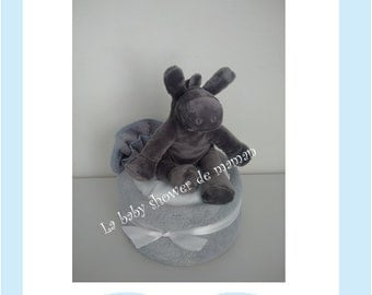 My friend donkey - for baby shower gift diaper cake - Baby shower