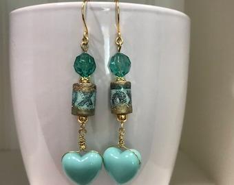 Hugs and kisses earrings