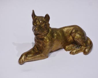 Large bronze topic * dog German Shepherd / German shepherd *.