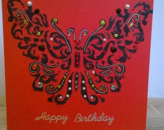 Gothic butterfly card