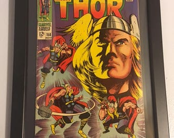Original The Mighty Thor #158 Silver Age Framed Comic Book  - Jack Kirby/Stan Lee - Marvel Comics