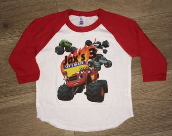Blaze and the Monster Machines, Blaze shirt, Truck Shirt, Truck Birthday, Blaze birthday, Monster Trucks, boy birthday