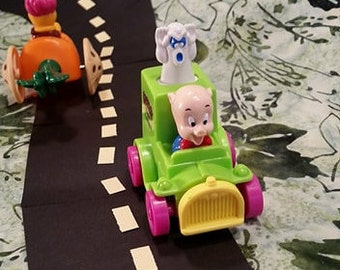 1992 Porky Pig Toy/ Looney Tunes Quak Up Cars/ Vintage Happy Meals Toy/ Ghost Catcher/Vintage 90's