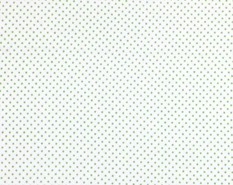 Green Dots, Flannel Fabric, Kids Fabric, Fabric by the Yard, Quilting Fabric, Apparel Fabric, Flannel Print Fabric