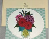 Mason Jar Bouquet Mother's Day Card