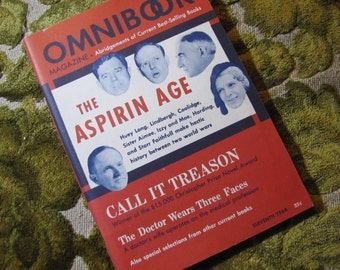 Vintage Omnibook Magazine November 1949 Issue - Best Selling Book Abridgements The Aspirin Age, Call It Treason, and More!