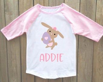 girls easter shirt, girl easter shirt, easter bunny shirt, easter outfit, baby easter shirt, easter shirt girls, baby girl easter shirt