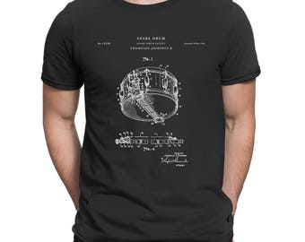 Snare Drum Patent T Shirt, Drummer Gift, Music T Shirt, Percussion, Drum Shirt P144