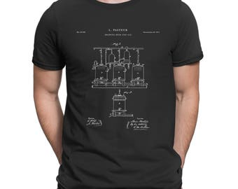 Brewing Beer Patent T Shirt, Drinking Shirt, Beer Shirt, Beer Gift P208