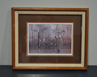 After the Storm by Phillip Crowe Print  - Oak Framed - Duck Scene