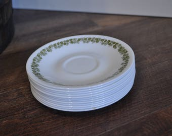 Set of 12 Saucers - Spring Blossom - Crazy Daisy - Corelle by Corning