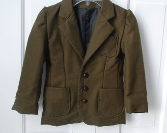 Boy's Wool Blazer