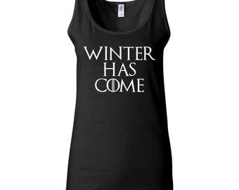 Winter Has Come Game of Thrones Trend Clothing Printed Women Tank Top Designed Sleeveless Women Tanks