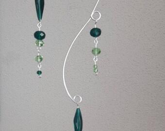 Glass Suncatcher Green