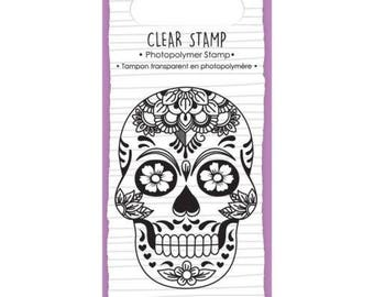 Stamp clear Mexican Calavera + 1 free INKER