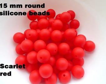 15 mm silicone beads for teething necklace / Silicone chew beads silicone 15 mm / Beads for teething Chewelry beads / Baby teether beads