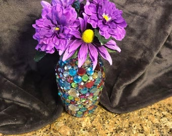 Beautifully Handmade Multicolored Jeweled Vase
