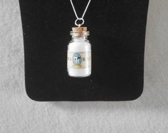"Legend of Zelda Lon Lon Milk 18"" 925 Sterling Silver 1.2mm Ball Necklace"