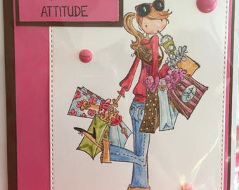 Style girl shopping