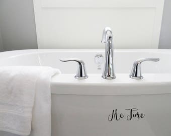 me time decal wall decal funny decal bathroom decal home decor