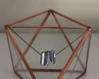 Titanium coated crystal necklace