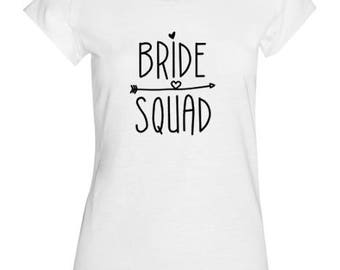 Bride Squad Tshirt/Hen Party Tshirt/Personalised/Wedding Party/Bachelorette party/Hens/Bridal/Wedding/Gift/Bridesmaid gift